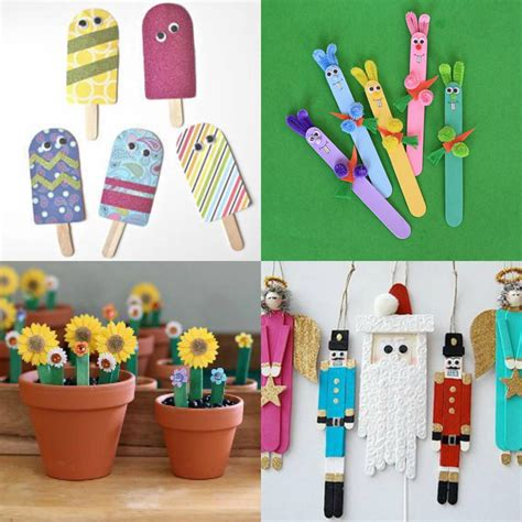 with craft sticks what to make with popsicle sticks 50 crafts for