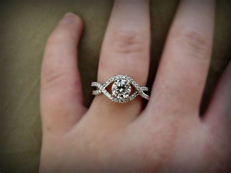 My engagement ring. please excuse my pregnancy caused fat