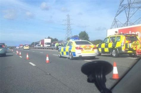 haircut deals wirral m53 crash woman cut free from car after six vehicle smash