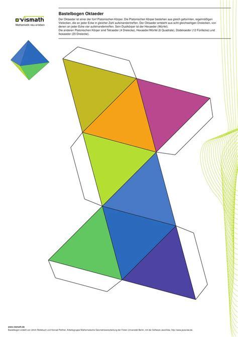 Platonic Solids Origami - platonische k 246 rper basteln ein set mit f 252 nf bastelb 246