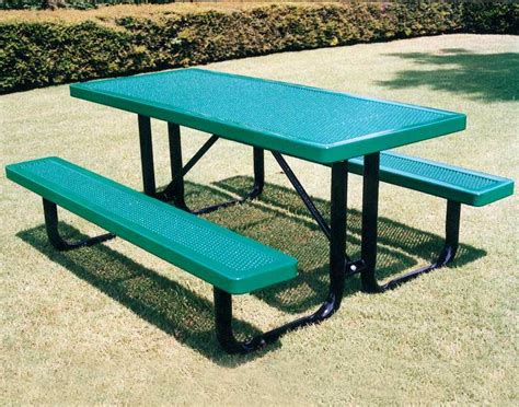rectangular innovated metal picnic table