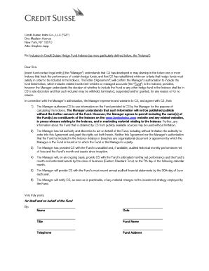 Credit Suisse Credit Letter fillable authorization letter credit suisse