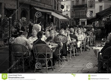paris people  outdoor cafe editorial stock image