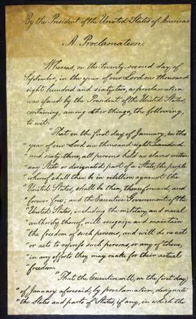 A rare event: Emancipation Proclamation on round-the-clock ... Emancipation Proclamation Actual Document