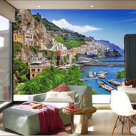 Wallpaper Dinding Custom Motif Icon 3d fondos de pantalla de las ciudades compra lotes baratos