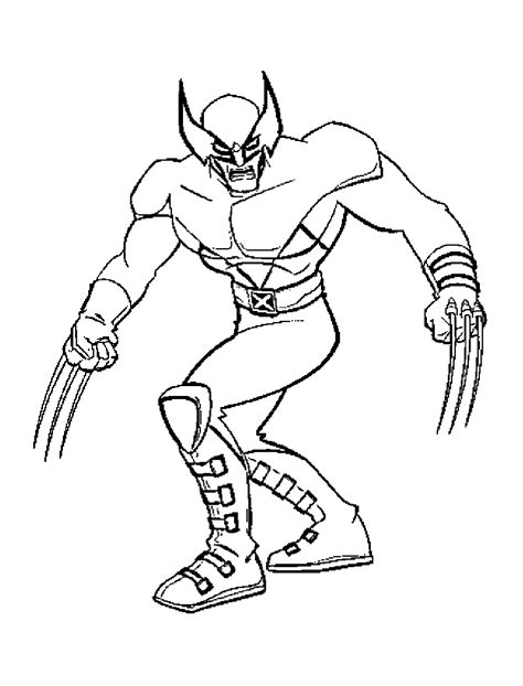 Free Printable X Men Coloring Pages For Kids Xmen Coloring Pages