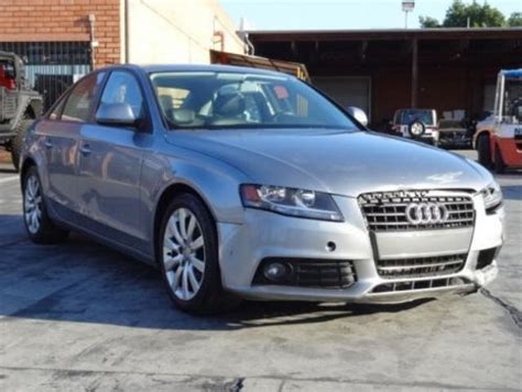 Audi A4 2 0 T Premium by Purchase Used 2009 Audi A4 2 0 T Fronttrak Premium Damaged