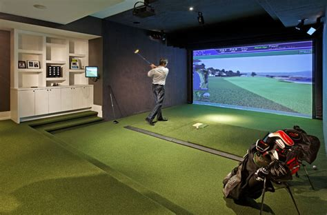 golf media room contemporary home theater toronto - Room Golf