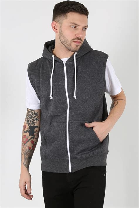 Hoodie Jumper Dan Zipper mens sleeveless hooded hoodie casual zipper sweatshirt gilet jacket jumper top ebay