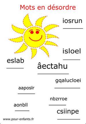 lordre et le dsordre 2851976656 imprimer jeux de lettres jeux de mots vacances remettre les lettres dans l ordre mots en