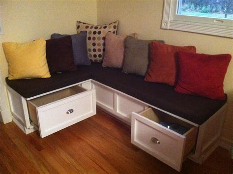 kitchen nook bench with storage l shaped breakfast nook bench with storage drawers and