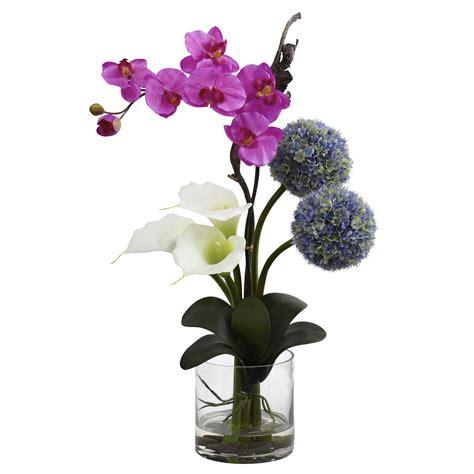 arrangement of flowers calla orchid ball flower arrangement silk specialties