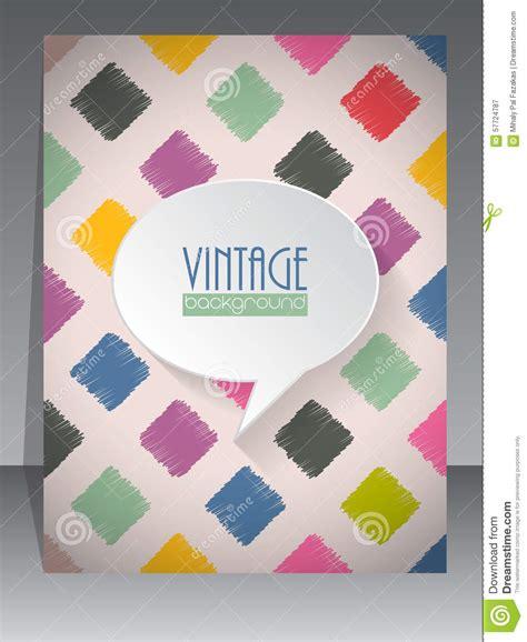 design cover retro cool vintage retro scrapbook cover design stock vector