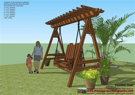 backyard swing plans home garden plans sw101 arbor swing plans construction