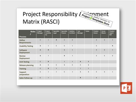 Split Level by Project Rasci Matrix Project Templates Guru