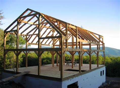 timber frame house timber frame barn home hand hewn beams