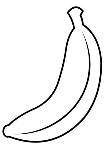 shining ideas banana colouring pages  coloring pictures