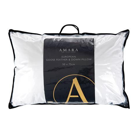 european bed pillows buy a by amara european goose feather down pillow amara