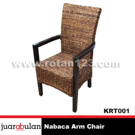 Kursi Rotan Alami harga jual nabaka arm chair kursi rotan alami model gambar