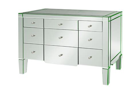 Dresser With Mirrored Drawers catherine 9 drawer mirrored dresser by bungalow 5