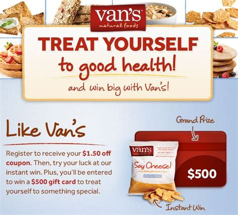 Free Online Instant Win Sweepstakes - free vans natural foods say cheese snack pack instantwin