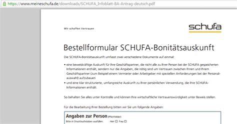 Musterbrief Löschen Schufa Eintrag Schufa Auskunft Per Post Beantragen Schufa Auskunft Kostenlos Erfragen 2016