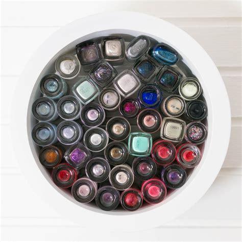 regal nagellack nagellack aufbewahrung mosaic look mit rundem regal