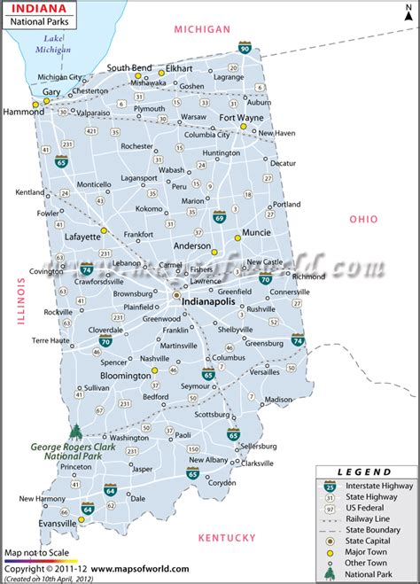 indiana state parks map buy indiana national parks map