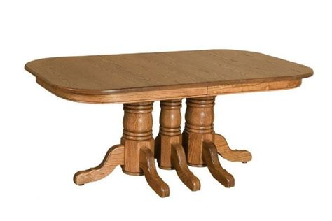 amish solid wood dining table solid wood pedestal dining table from dutchcrafters