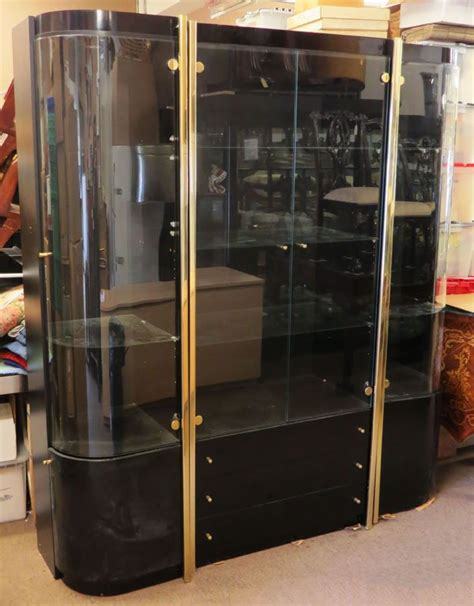 large black china cabinet large black lacquer display cabinet or china cabin