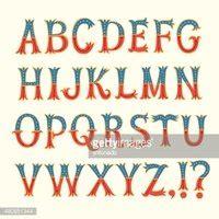 decorative symbol font download vintage decorative vector font stock vectors clipart me