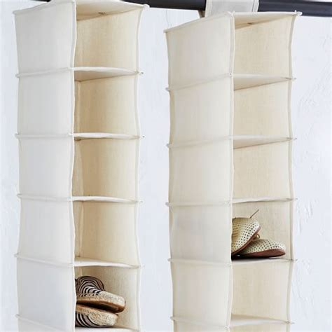 canvas hanging shoe organizer west elm