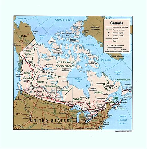 map between usa and canada nationmaster maps of canada 62 in total