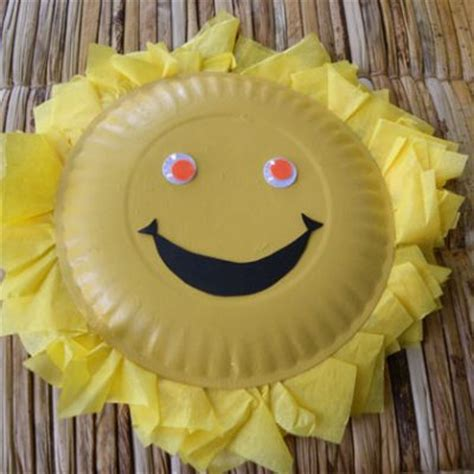 Sun Paper Plate Craft - smiley paper plate images