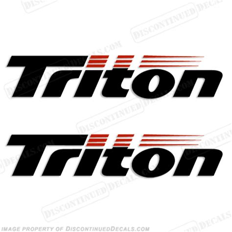 boat logo decals triton boat logo decals set of 2 style 1