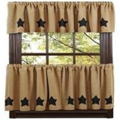 Primitive Burlap Curtains Primitive Decor Burlap Black Valance Farmhouse Country