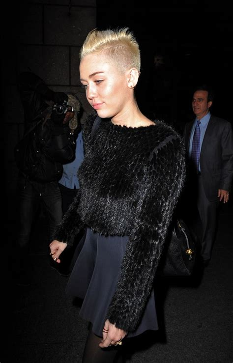 what is miley cyrus hair cut called miley cyrus takes the shaven head look one step further