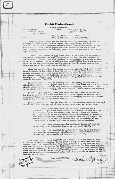 Va Transmittal Letter Letter Of Transmittal Ruskin Mcardle To Dan Moody August 15 1929 Tslac