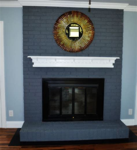 chalk paint brick fireplace chalk paint fireplace makeover painted brick