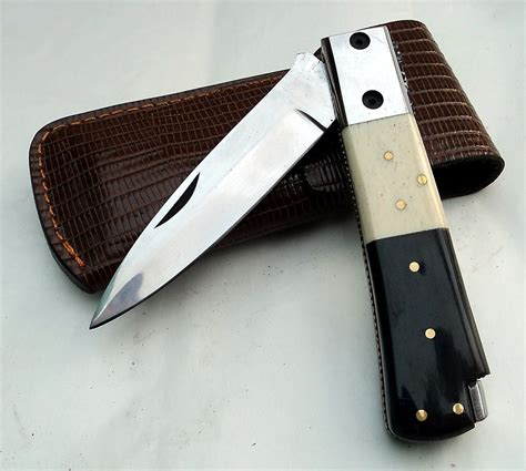 Handmade Pocket Knives - handmade d2 steel folding pocket knife zulfiqar