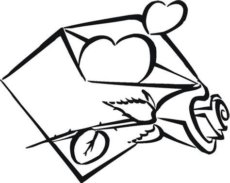 coloriage coeur dans une enveloppe coloriages 224