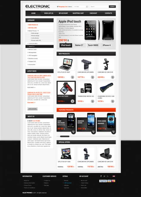 electronic store opencart theme best website templates