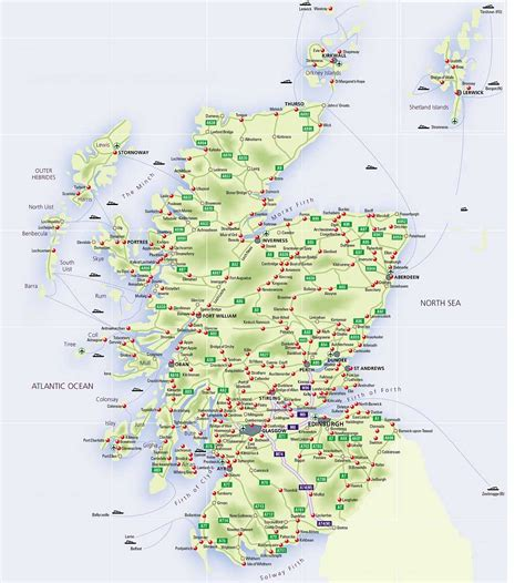 printable driving directions uk roadmap of scotland scotland info guide