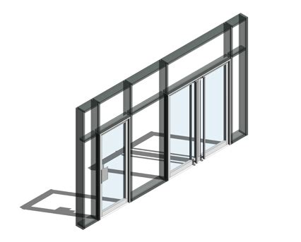 revit door in curtain wall 190 door double acting curtain wall door bimstore