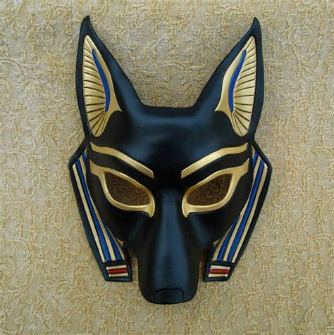 Mask Handmade - jackal mask anubis handmade leather mask by