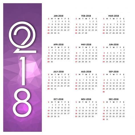 Kalender 2018 Vector 2018 Calendar Vector Free