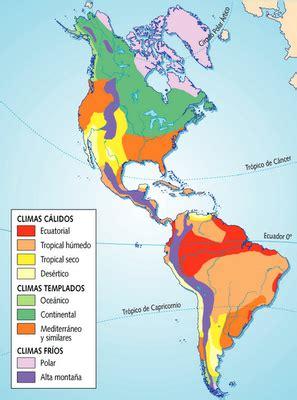 america mapa de climas sociales america r 237 os relieve y climas