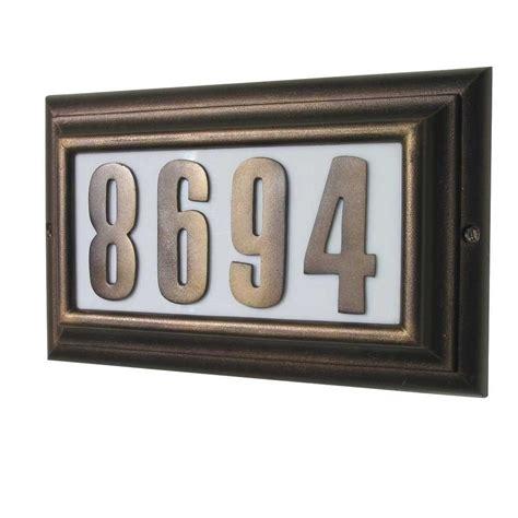 lighted house numbers home depot qualarc edgewood rectangular aluminum lighted address