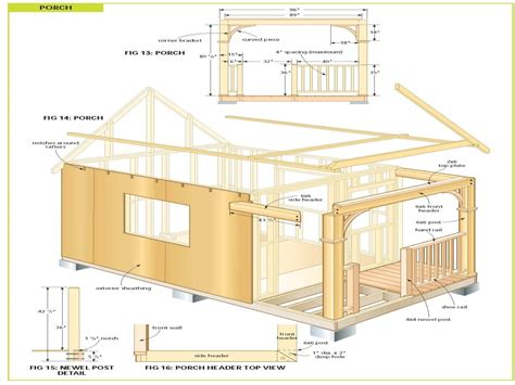 Free Cabin Blueprints Free Cabin Plans Inexpensive Small Cabin Plans Chalet