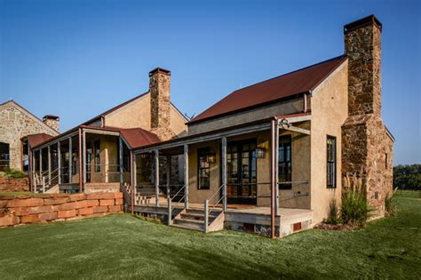 Rustic Country Bathroom Decor - ranch rustic exterior houston by thompson custom homes